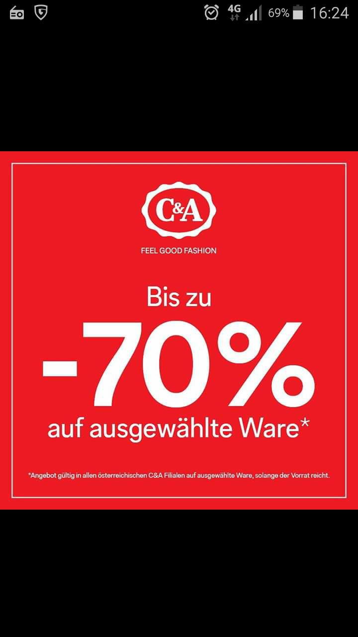 C&A - Rausverkauf