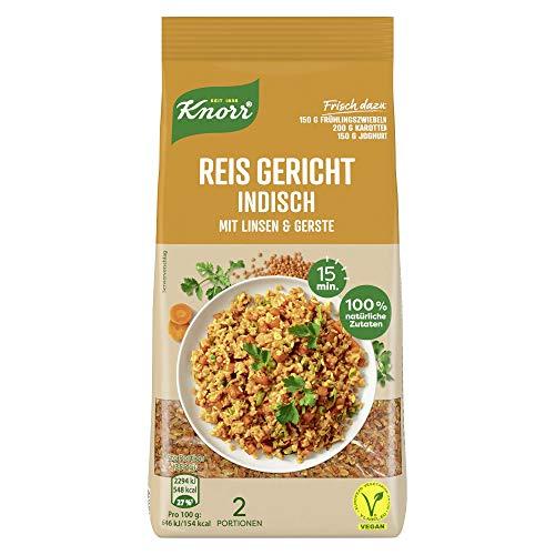 6x Knorr Reis Gericht für die schnelle Zubereitung Indisch (aus 100% natürlichen Zutaten)