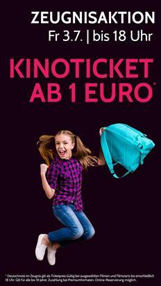 Megaplex Kino Zeugnisaktion: Deutschnote im Zeugnis gilt als Ticketpreis