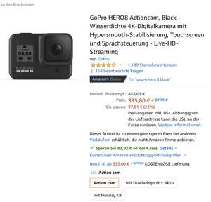 GoPro Hero 8 zum Bestpreis | Amazon direkt!