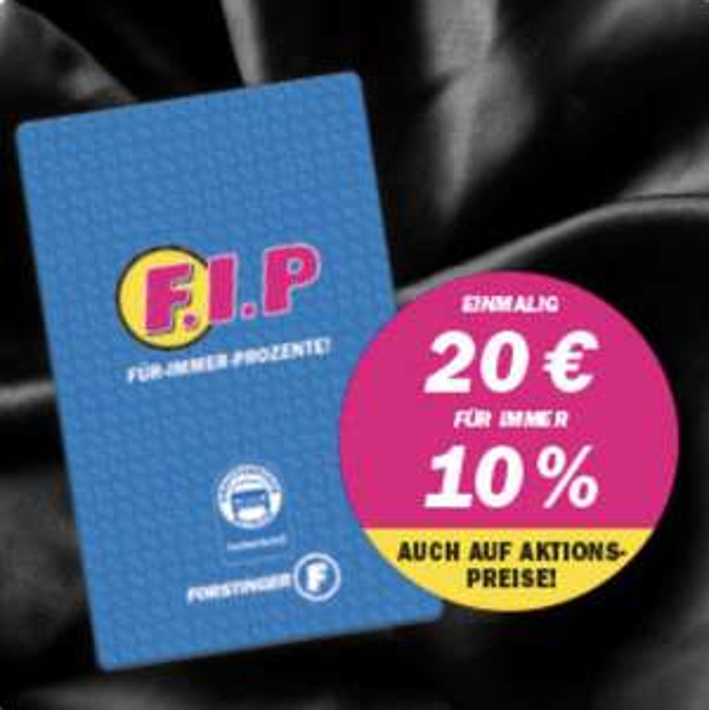 Forstinger F.I.P -10% für immer