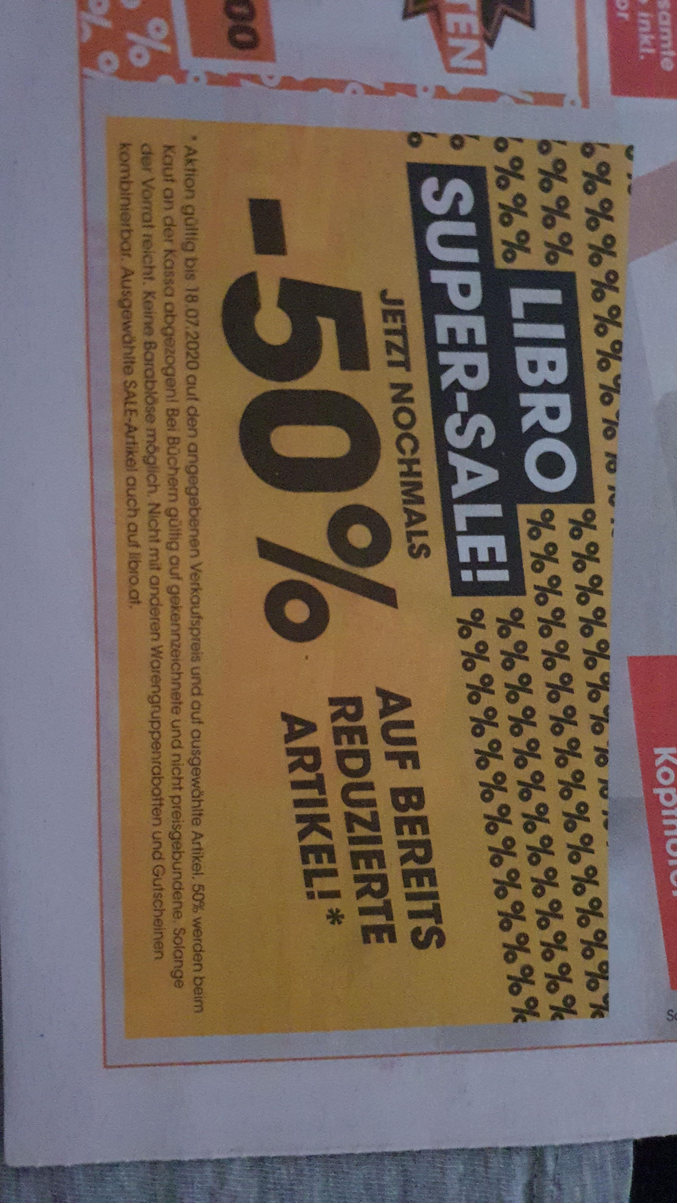 LIBRO -50% auf bereits reduzierte Artikel
