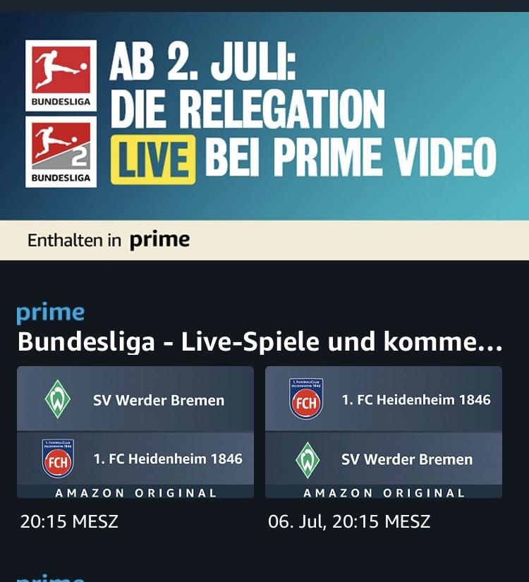 Fußball Relegation Deutschland Prime Video