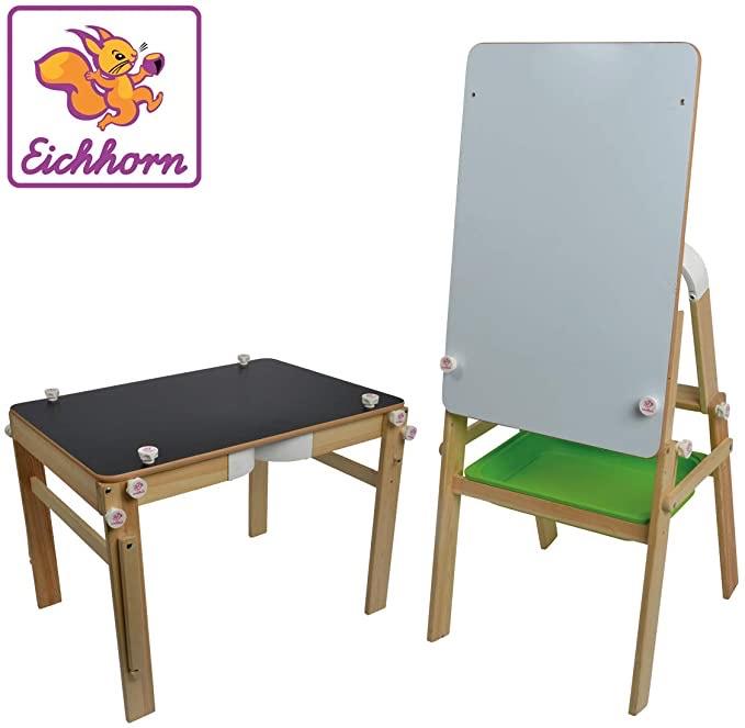 Eichhorn Maltafel für Kreide, Folienstift + Schreibtisch