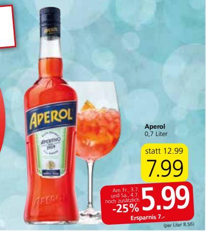 [SPAR] - Aperol 5,99 Euro