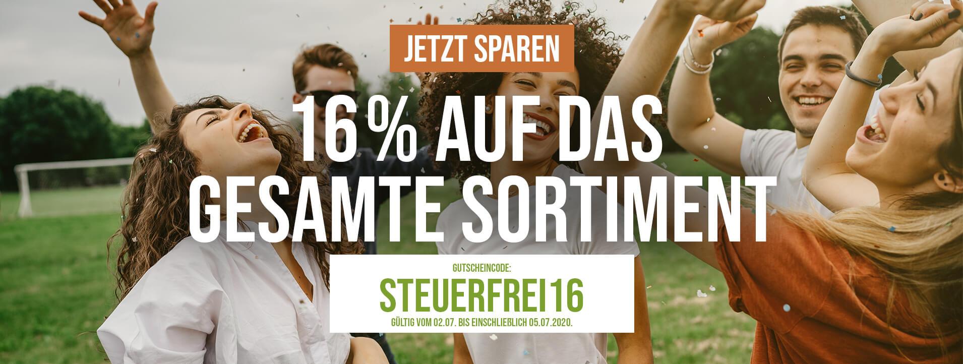 16% AUF DAS GESAMTE SORTIMENT bei NUTRI+