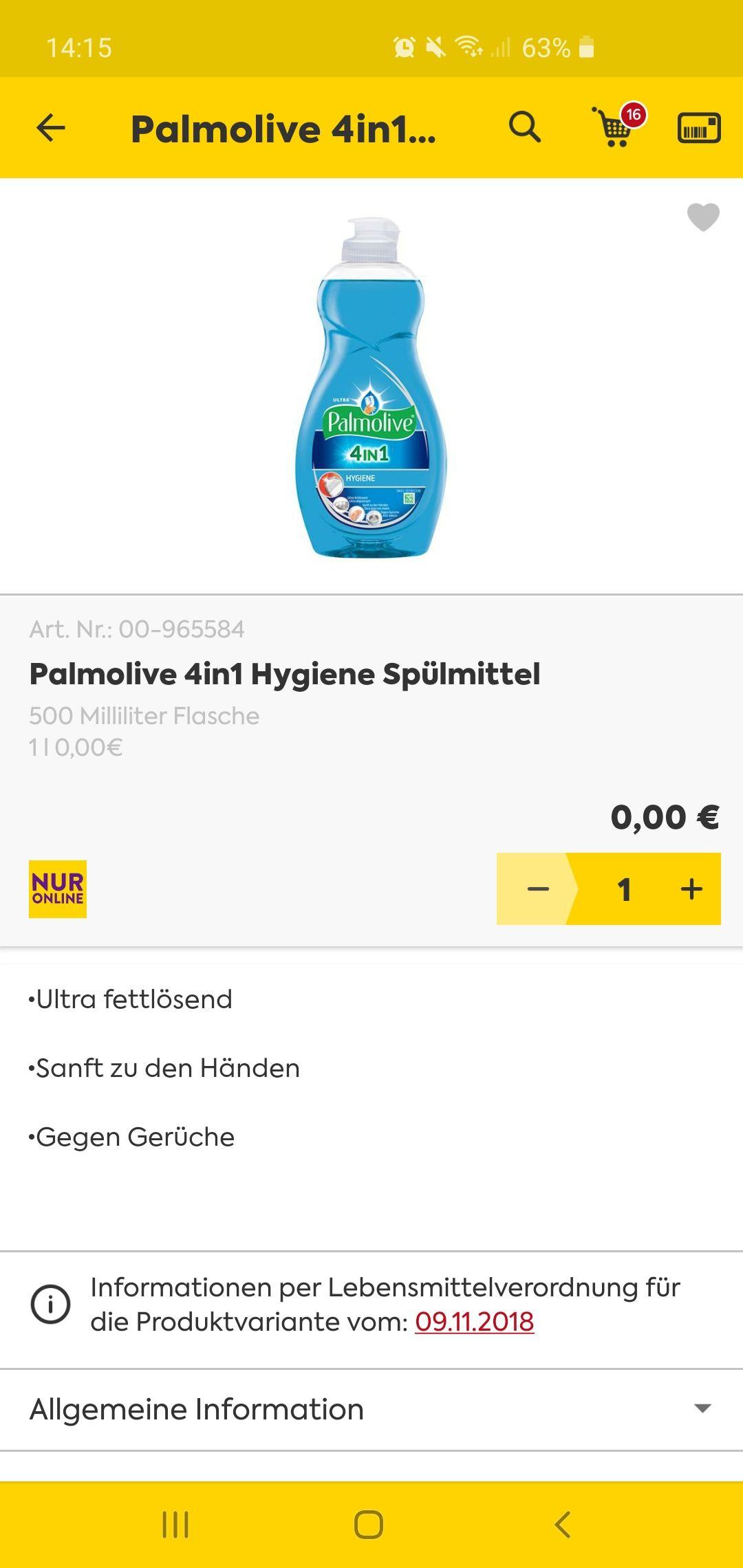 Billa - Palmolive 4in1 Hygiene Spülmittel