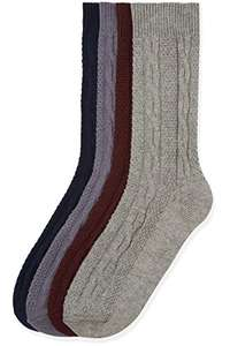 4x Amazon-Marke: find. Socken Herren mit Zopfmuster Größe 39-43.5