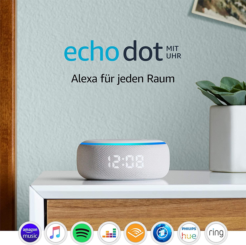 Echo Dot (3.Gen.) – smarter Lautsprecher mit Uhr und Alexa,
