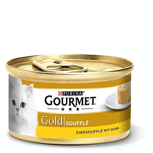 Purina GOURMET Gold Soufflé, Eiersoufflé, Katzenfutter 12 x 85 g Dose im Spar-Abo