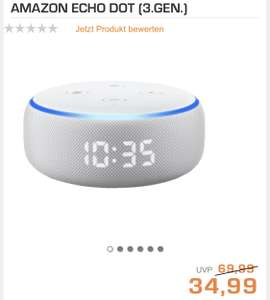 Amazon Echo Dot 3. Gen mit Uhr