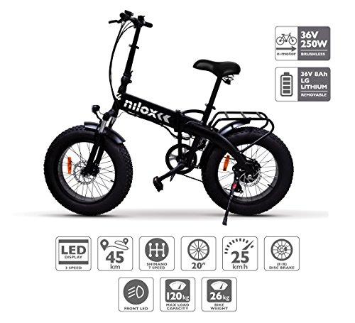 [Amazon.de] Nilox E Bike X4, Elektro Fahrrad, Schwarz, One Size