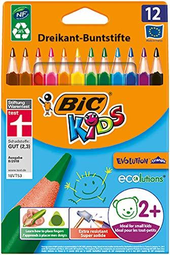 BIC Kids ECOlutions Evolution Buntstifte, 12er Set im Spar-Abo