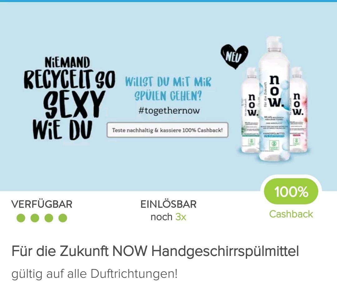 Marktguru: 3x Now Handgeschirrspülmittel mit 100 % Cashback