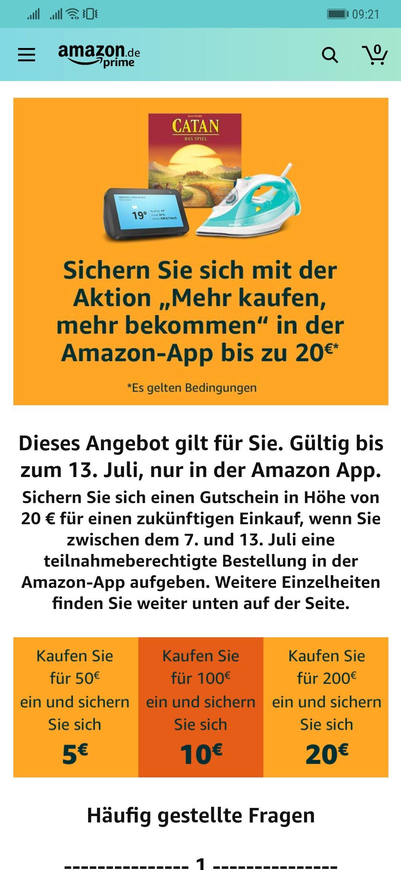 Amazon Roulette 20€ Gutschein für ausgewählte Kunden