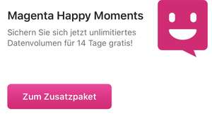 Magenta Happy Moments - geschenktes Datenvolumen