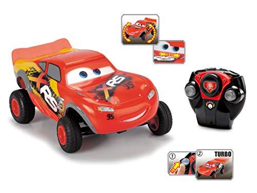 Dickie Toys Lightning McQueen XRS, Cars, ferngesteuertes Auto, RC Fahrzeug, 1:24, 18 cm, rot