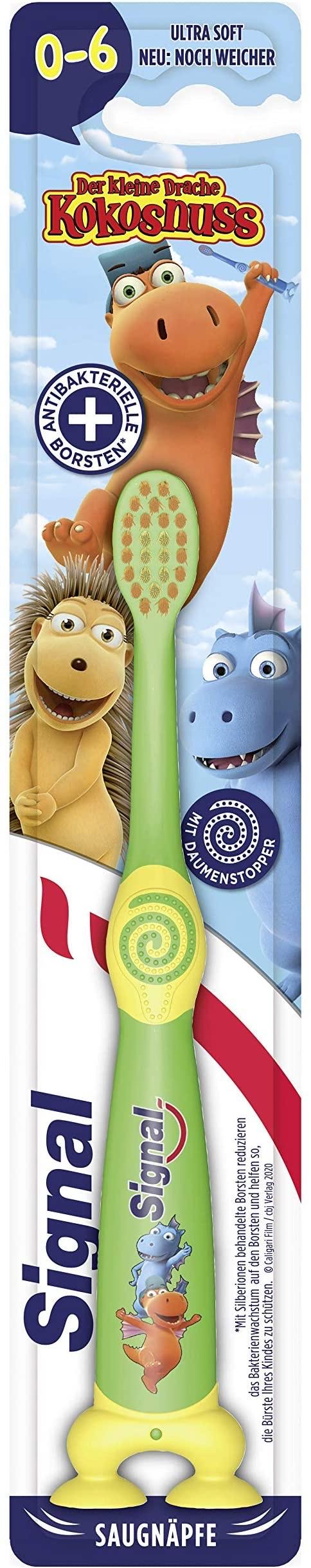 Signal Kids Zahnbürste für Kinder von 0 bis 6 Jahren Ultra Soft mit Saugnäpfen im Spar-Abo