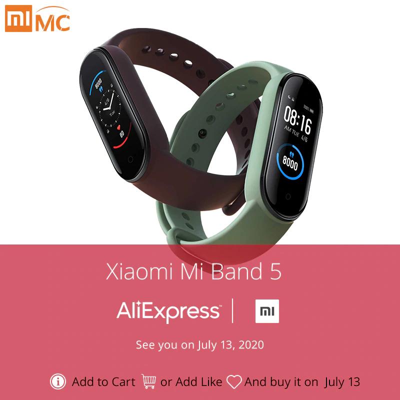 "Xiaomi Mi Band 5: Fitness Tracker - Global Version - 1.1"" Amoled Display, 24/7 Herzfrequenzmessung, 11 Sportmodi, Bluetooth 5.0"
