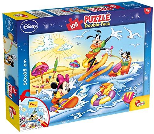 Lisciani Disney Puzzle mit 108 Teilen, beidseitig bedruckt mit Mickey & Co