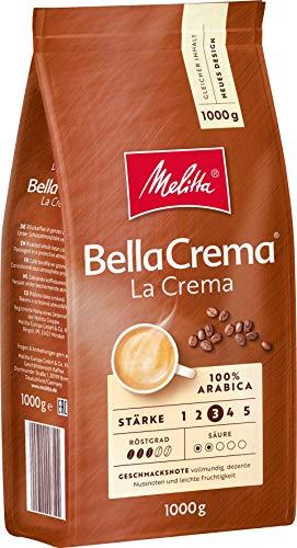 1kg Melitta Bella Crema, ganze Kaffeebohnen, 100% Arabica
