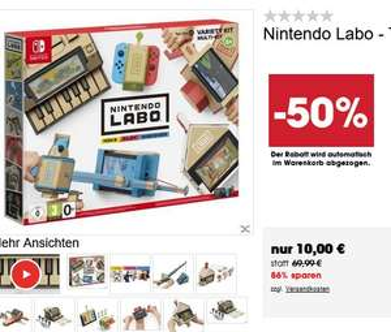(SWITCH) Nintendo Labo - Toy-Con 01: Multi-Set