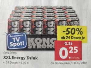 [Lidl] 24*XXL Energy Drink Kong Strong