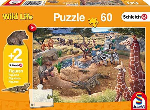 Schmidt Spiele Puzzle 56191, orange, An der Wasserstelle, 60 Teile