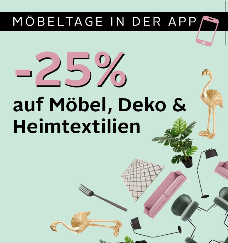 Otto: 25% Rabatt auf Möbel, Deko und Heimtextilien in der App