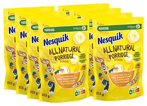 8x 315g NESQUIK All Natural Porridge Banane mit Haferflocken