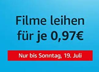 Prime Video - Filme um je 0,97€ ausleihen