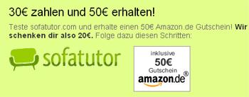 Genial: Sofatutor Testaktion - 20€ Amazon Guthaben geschenkt *Update*