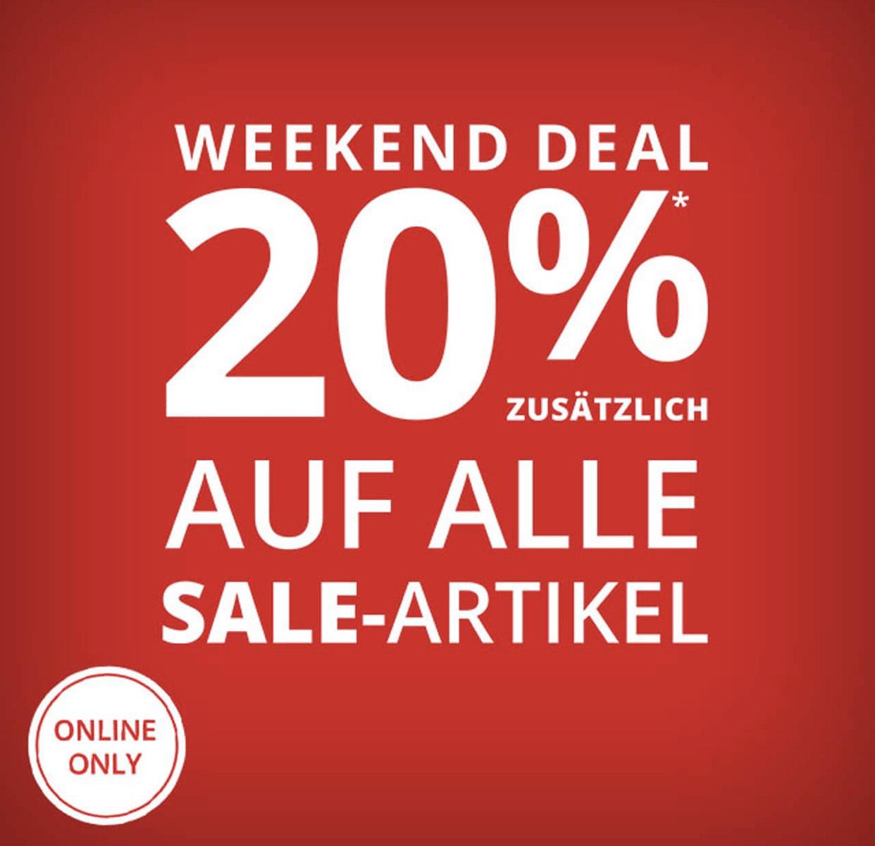 Peek & Cloppenburg: 20% Extra-Rabatt auf alle Sale Artikel