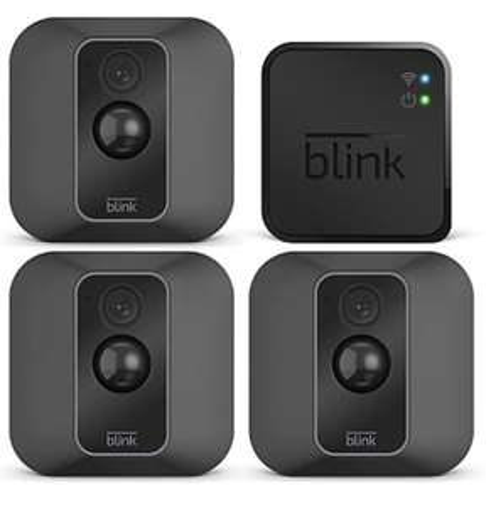 AMAZON Blink XT2 3 Sicherheitskameras für innen & außen mit Cloud-Speicher Zwei-Wege-Audio