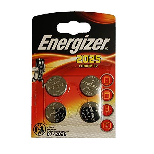 "4x Energizer ""CR2025"" Batterien (Lithium Knopfzelle)"