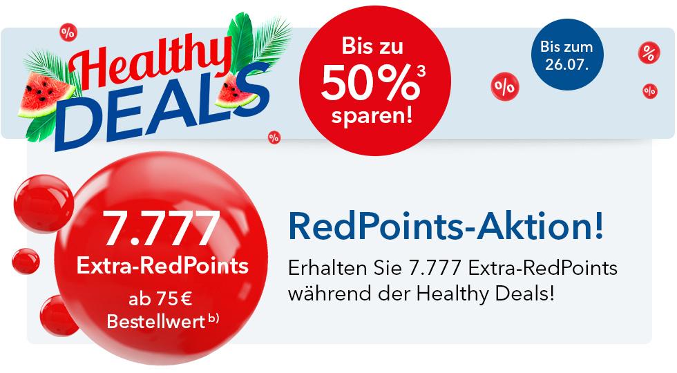 Shop-Apotheke Redpoints: ab 75€ MBW 7,77€ Rabatt auf nächste Bestellung