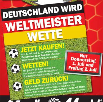 Media Markt WM-Wette - Kostenloser Fernseher oder Beamer wenn Deutschland Weltmeister wird