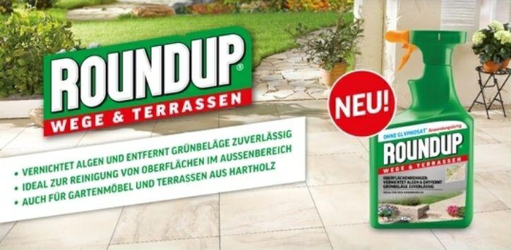 Roundup® Wege & Terrassen 1 Liter Spray GRATIS (OHNE Glyphosat)