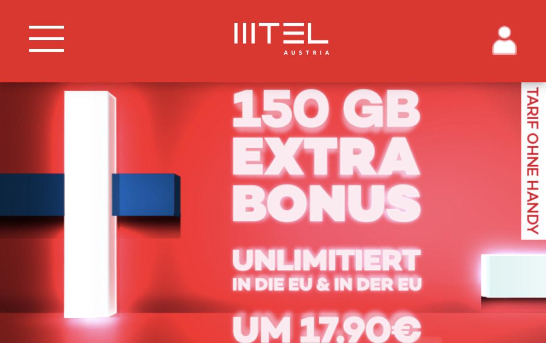 [mtel.at] 15GB + 150GB EXTRA BONUS € 17,90