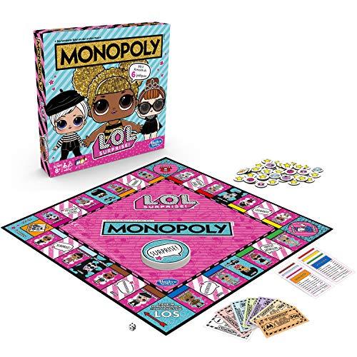 Hasbro Monopoly L.O.L. Surprise Brettspiel für Kinder ab 8 Jahren