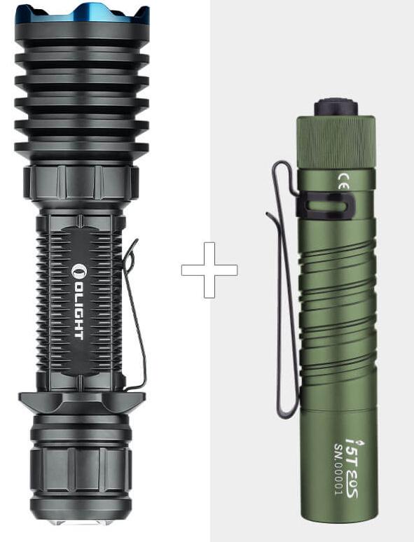 Olight Taschenlampen Special: z.B. Warrior X Pro + I5T OD um 113,94€