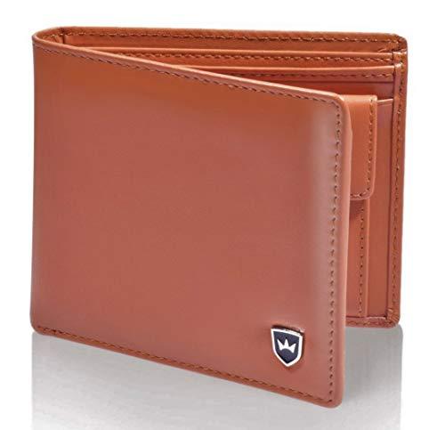 [Jubiläumsdeal] Kronenschein® Premium RFID Herren-Geldbörse braun