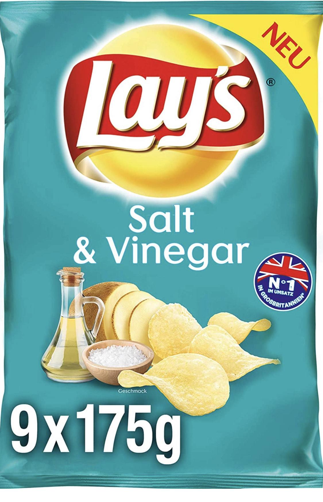 9x 175g Salt & Vinegar Chips