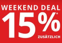 Peek & Cloppenburg: Weekend Deal - 15% Rabatt auf alle Sale Artikel