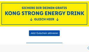 [Lidl Plus] Newsletter Kong Strong Energy Drink kostenlos