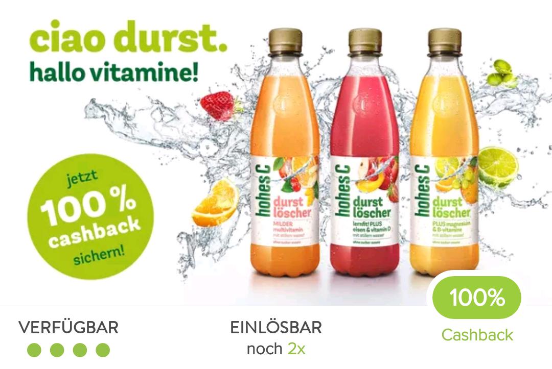 2x gratis Hohes C Durstlöscher