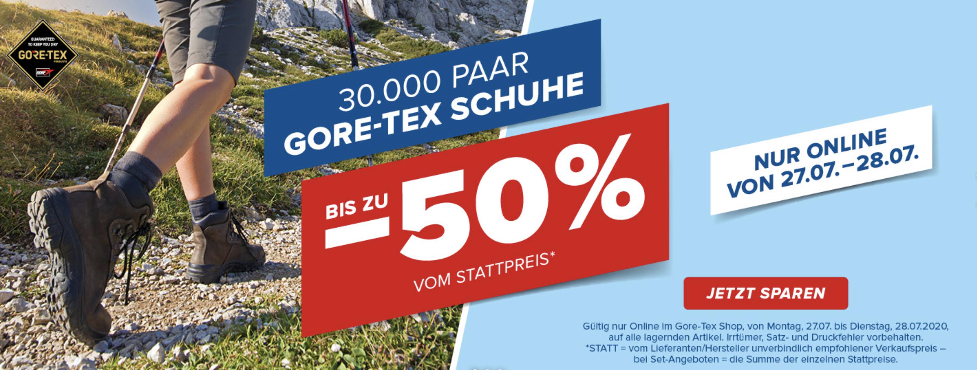 Hervis: Bis zu 50% Rabatt auf über 30.000 Gore Tex Schuhe + 10€ NL-Gutschein