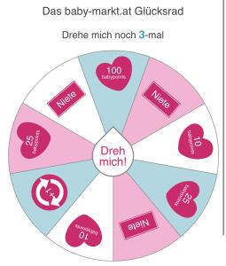 Baby-markt.at: Kostenlos Guthaben/babypoints Glücksrad