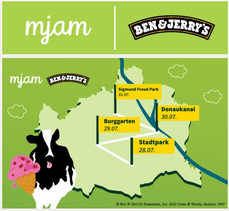 mjam Ben & Jerry's Eiscreme-Bike - GRATIS Eis und MJAM-Goodies