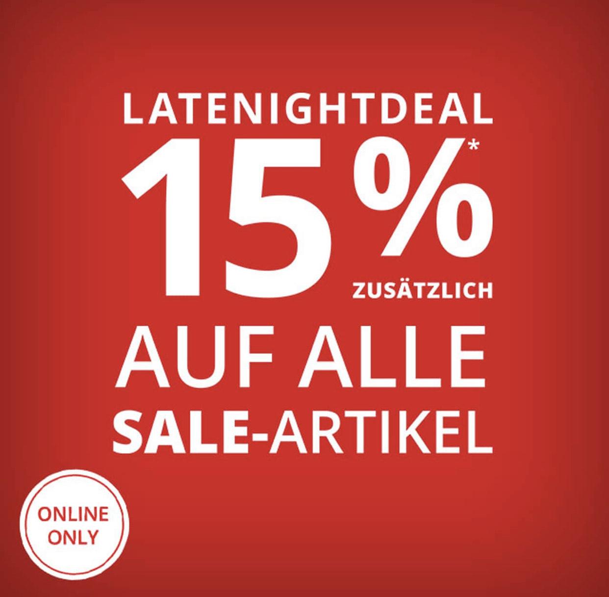 Peek & Cloppenburg: 15% Extra-Rabatt auf Sale-Artikel